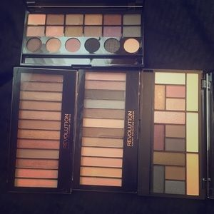 Makeup Revolution neutrals. Swatched or used 2x.